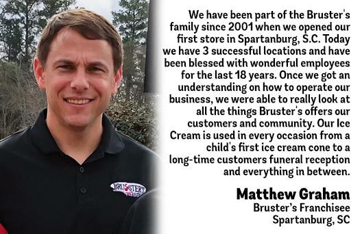 Bruster's Testimonial - Matthew Graham